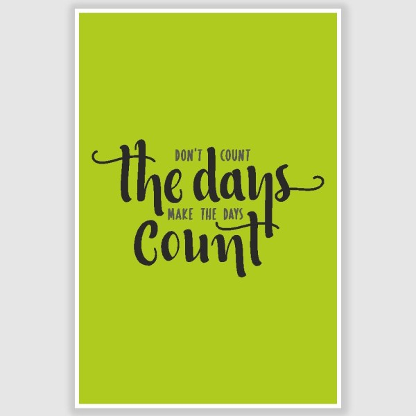 Make The Days Count Inspirational Poster (12 x 18 inch)
