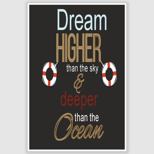 Dream Higher Inspirational Poster (12 x 18 inch)