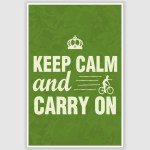 Keep Calm and Carry On Inspirational Poster (12 x 18 inch)