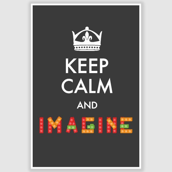 Keep Calm and Imagine Inspirational Poster (12 x 18 inch)