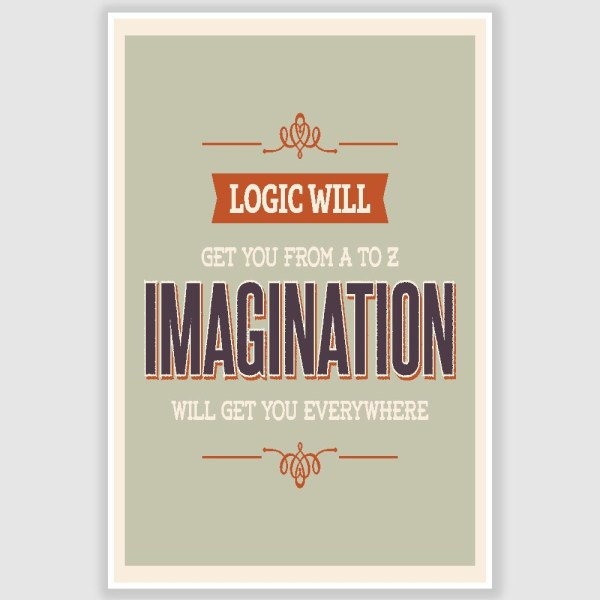 Imagination Inspirational Poster (12 x 18 inch)