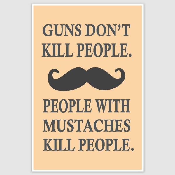 People With Mustaches Inspirational Poster (12 x 18 inch)