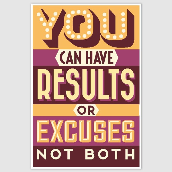 You Can Have Results Colorful Motivational Poster (12 x 18 inch)