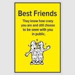 Best Friends Poster (12 x 18 inch)