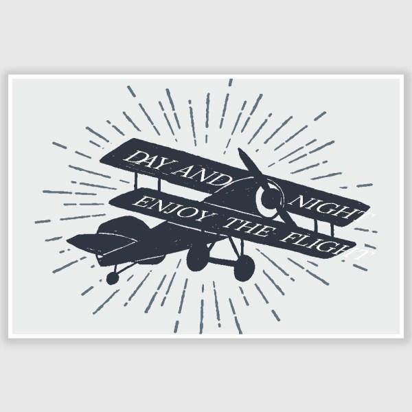 Enjoy The Flight Inspirational Poster (12 x 18 inch)