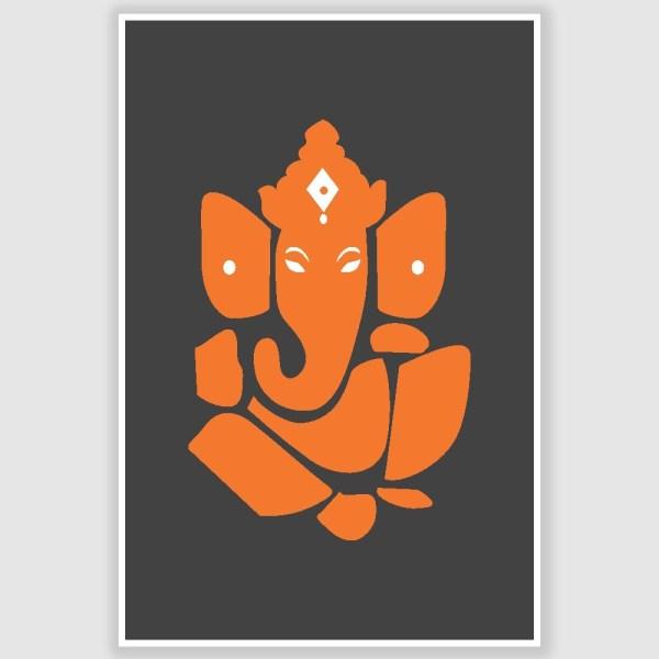 Ganesha Spiritual Poster (12 x 18 inch)