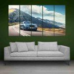 Multiple Frames Beautiful Car Wall Painting (150cm X 76cm)