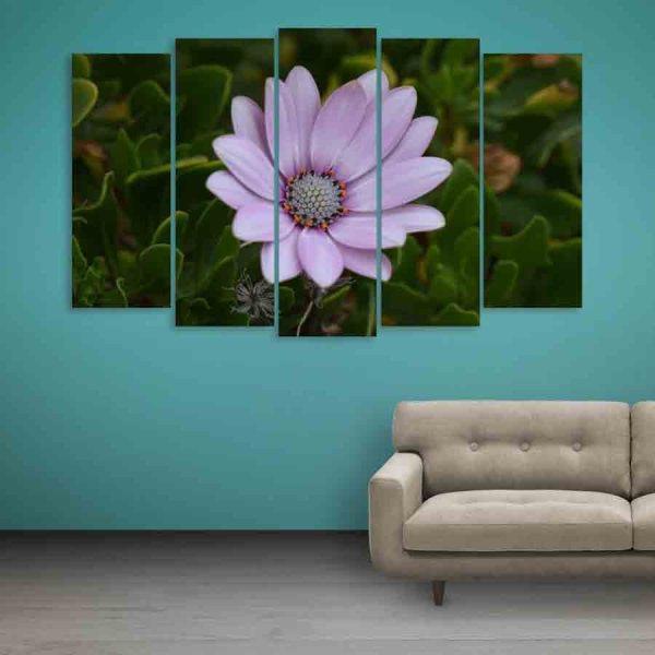 Multiple Frames Beautiful Flower Wall Painting (150cm X 76cm)