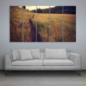 Multiple Frames Nature Grass Wall Painting for Living Room, Bedroom, Office, Hotels, Drawing Room (150cm X 76cm)