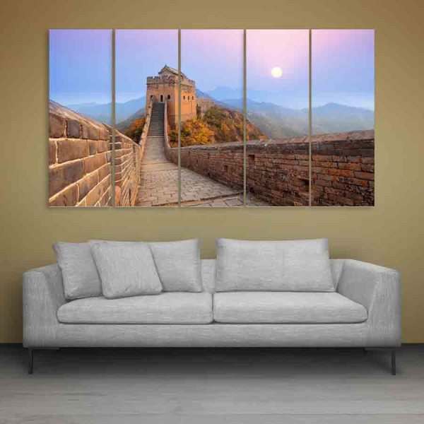 Multiple Frames Great Wall Of China Wall Painting (150cm X 76cm)