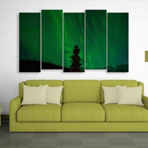 Multiple Frames Beautiful Nature Wall Painting for Living Room, Bedroom, Office, Hotels, Drawing Room (150cm X 76cm)