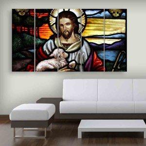 Multiple Frames Jesus Beautiful Wall Painting (150cm X 76cm)