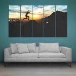 Multiple Frames Jump Beautiful Wall Painting (150cm X 76cm)