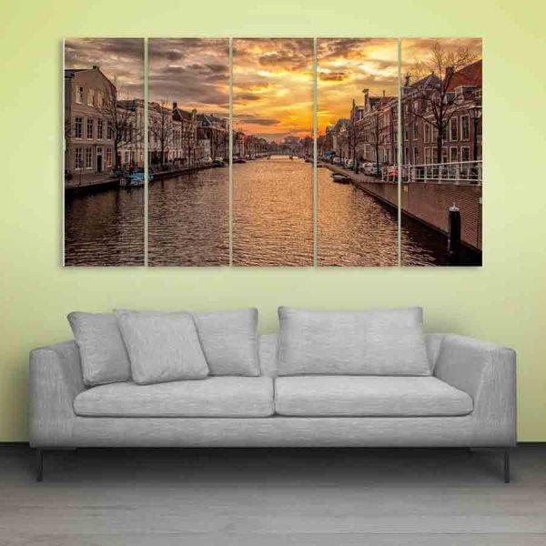 Multiple Frames Beautiful Venice Wall Painting (150cm X 76cm)