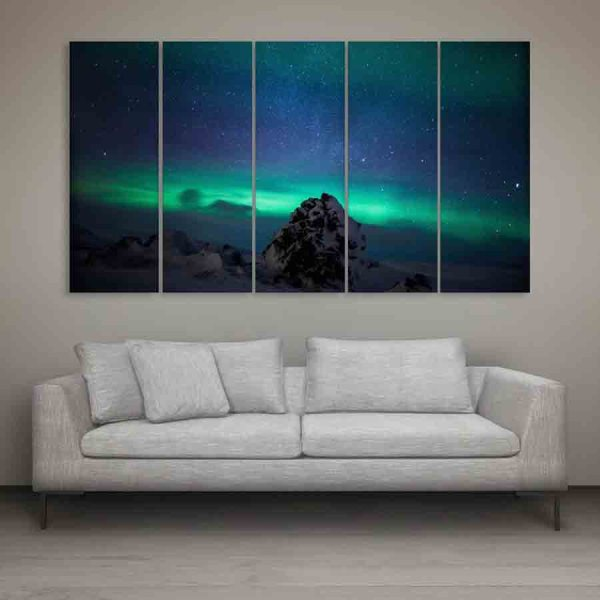 Multiple Frames Beautiful Northern Lights Wall Painting (150cm X 76cm)