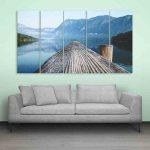 Multiple Frames Beautiful Ocean Wall Painting (150cm X 76cm)
