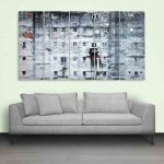 Multiple Frames Beautiful Old Wall Painting (150cm X 76cm)