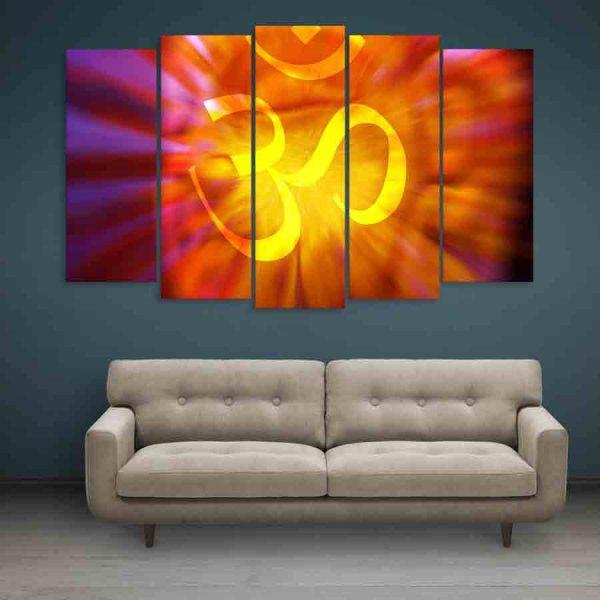 Multiple Frames Om Wall Painting (150cm X 76cm)
