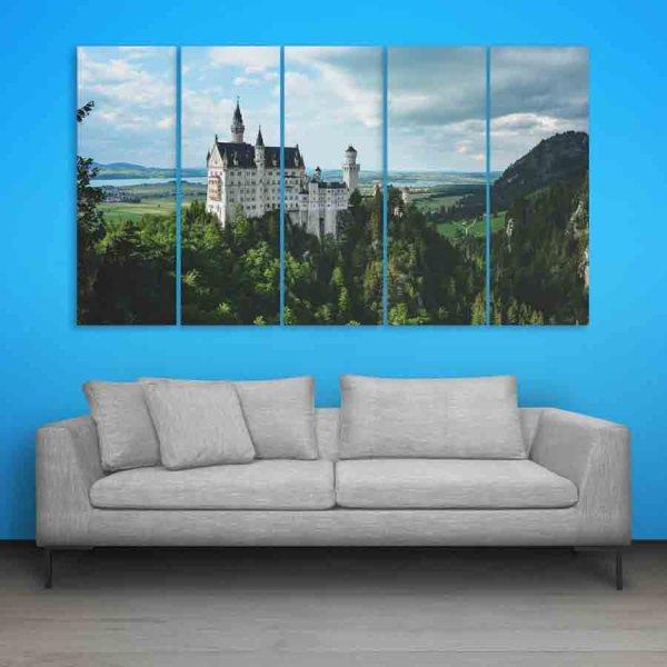 Multiple Frames Beautiful Castle Wall Painting (150cm X 76cm)