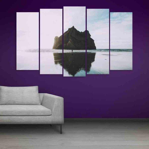 Multiple Frames Beautiful Island Wall Painting (150cm X 76cm)
