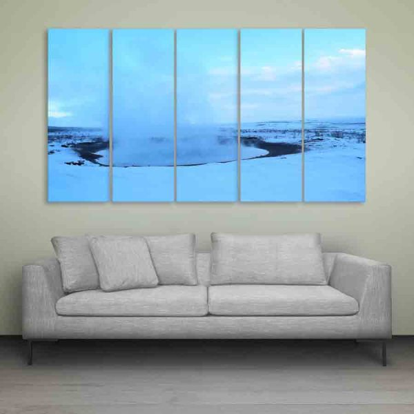 Multiple Frames Beautiful Snow Wall Painting (150cm X 76cm)