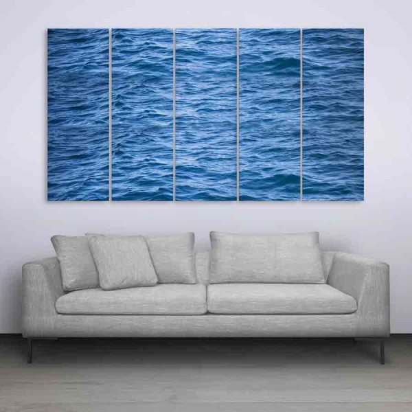 Multiple Frames Beautiful Sea Water Wall Painting (150cm X 76cm)