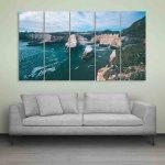 Multiple Frames Beautiful Seattle Skyline Wall Painting (150cm X 76cm)