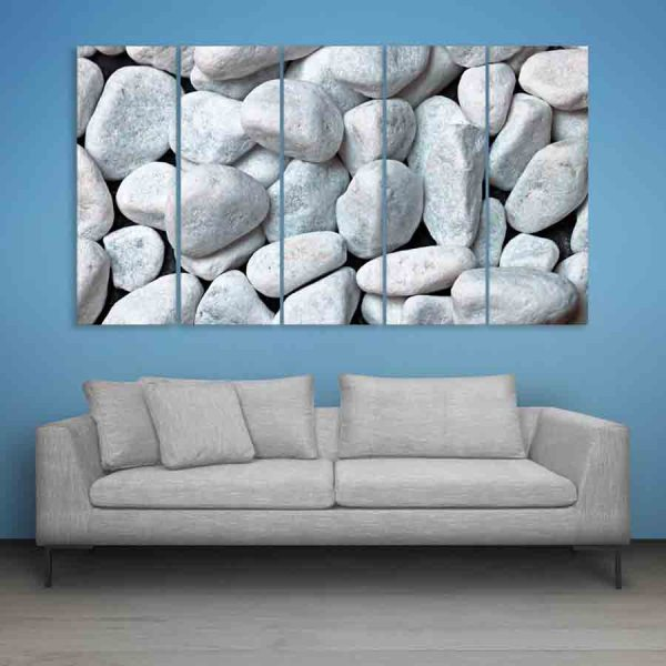 Multiple Frames Beautiful Small Pebble Wall Painting (150cm X 76cm)