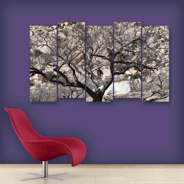 Multiple Frames Beautiful Tree Wall Painting (150cm X 76cm)