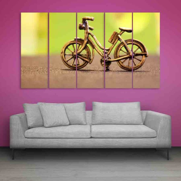Multiple Frames Miniature Bicycle Wall Painting (150cm X 76cm)