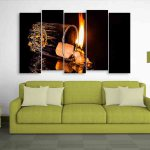 Multiple Frames Fire Wall Painting (150cm X 76cm)