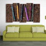 Multiple Frames Beautiful Pens Wall Painting (150cm X 76cm)