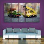 Multiple Frames Toys Wall Painting (150cm X 76cm)