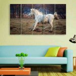 Multiple Frames Running Horse Wall Painting (150cm X 76cm)