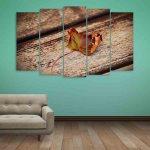 Multiple Frames Leaf Wall Painting (150cm X 76cm)