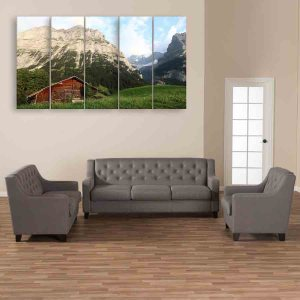 Multiple Frames Nature Scenery Wall Painting (150cm X 76cm)