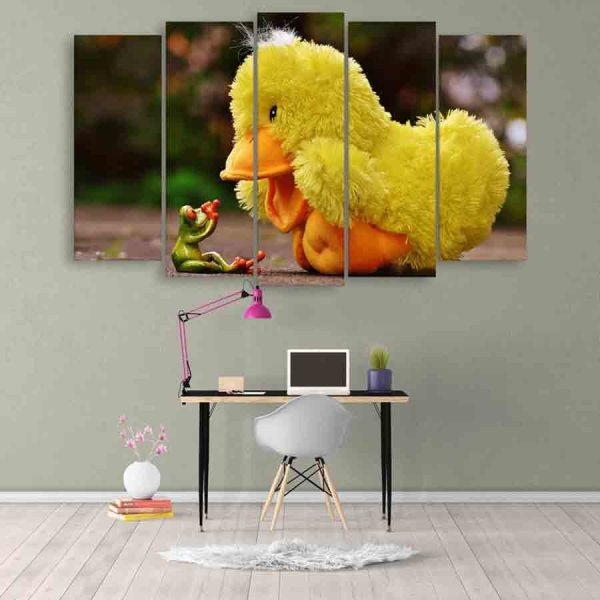 Multiple Frames Beautiful Toys Wall Painting (150cm X 76cm)