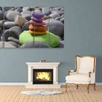 Multiple Frames Beautiful Stones Wall Painting (150cm X 76cm)