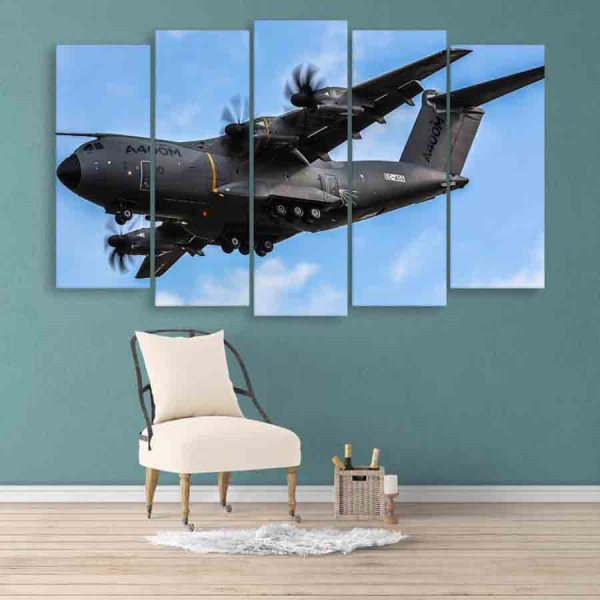 Multiple Frames Aeroplane View Wall Painting (150cm X 76cm)