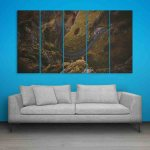 Multiple Frames Beautiful Makeup Wall Painting (150cm X 76cm)