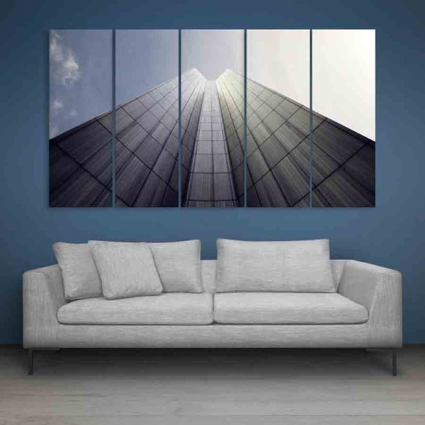 Multiple Frames Beautiful Building Wall Painting (150cm X 76cm)