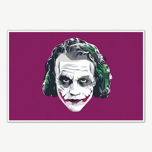 The Dark Knight Joker Heath Ledger Art Poster |  Movie Poster