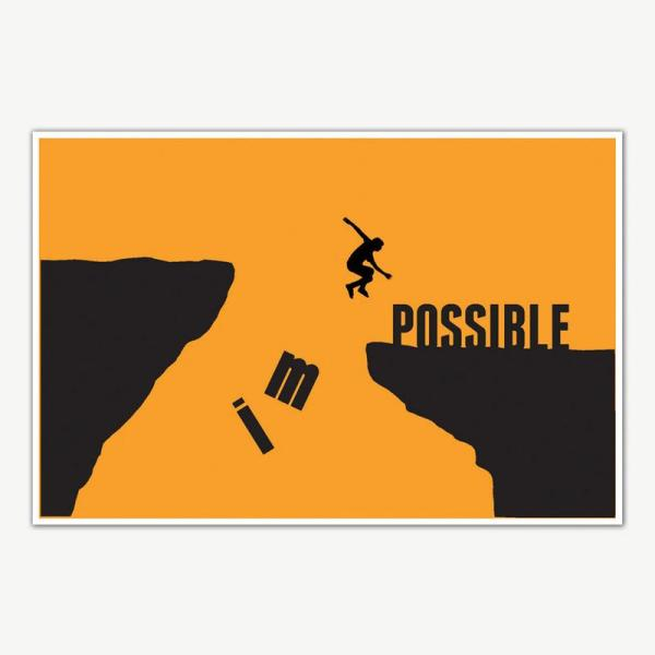 Impossible Gym Quotes Poster Art   Gym Motivation Posters