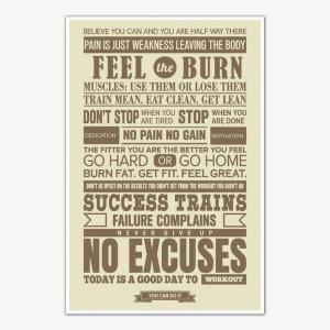 Never Give Up Gym Quotes Poster Art | Gym Motivation Posters