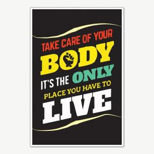 Take Care Of Your Body Fitness Poster | Gym Motivation Posters