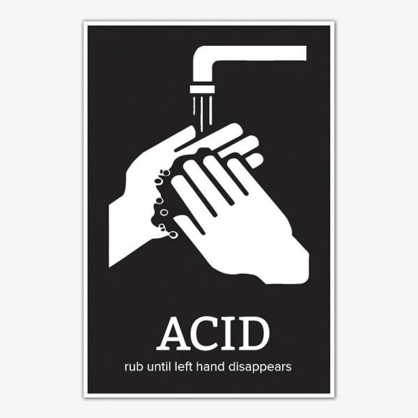 Hand Wash Funny Signage Poster