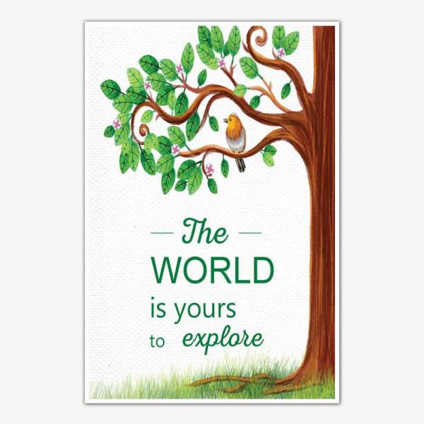 Explore The World Quote Poster Art   Motivational Posters For Room