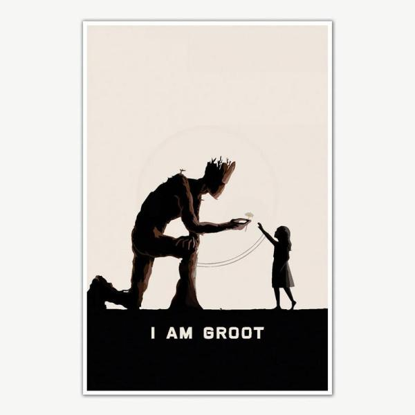 Guardians Of The Galaxy I am Groot Poster For Room