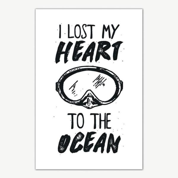I Lost My Heart To The Ocean Poster Art | Posters For Room
