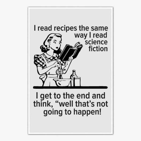 I Read Recipes Quote Poster Art | Funny Posters For Room